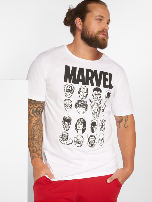 Merchcode T-Shirty Marvel bialy