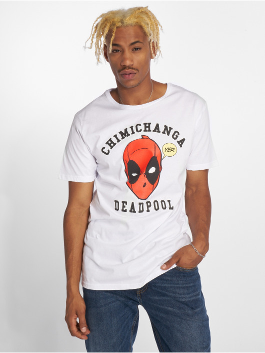 Merchcode T-Shirty Deadpool Chimichanga bialy