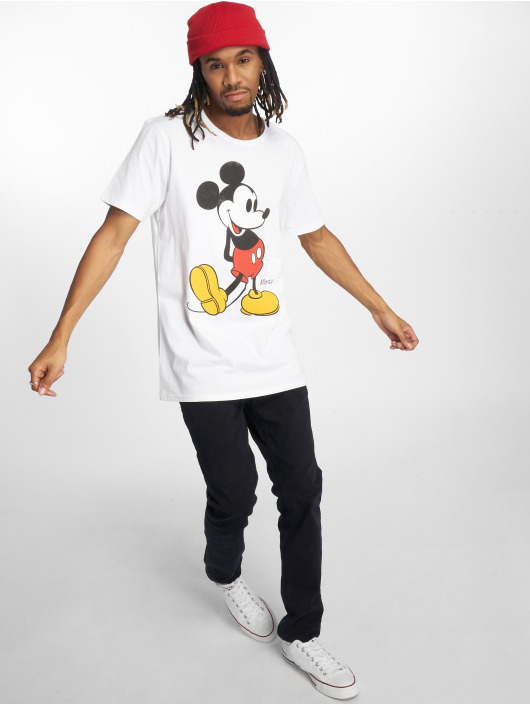 Merchcode T-Shirty Mickey Mouse bialy