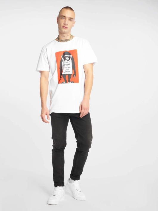 Merchcode T-Shirty Banksy Do Nothing bialy