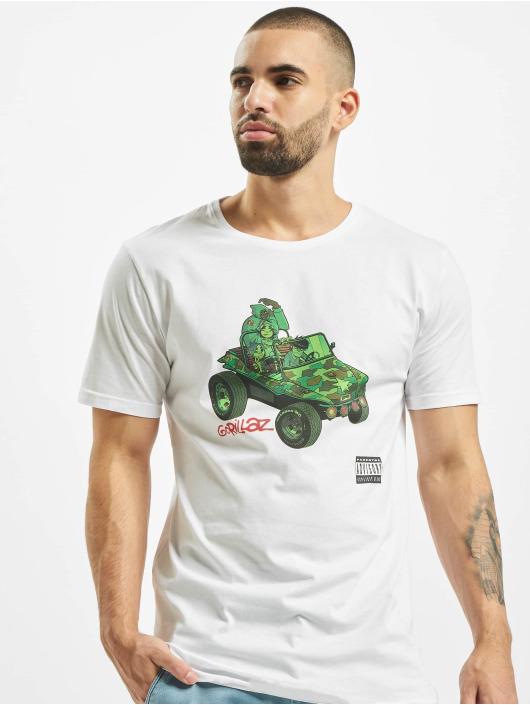 Merchcode T-Shirty Gorillaz Tank bialy