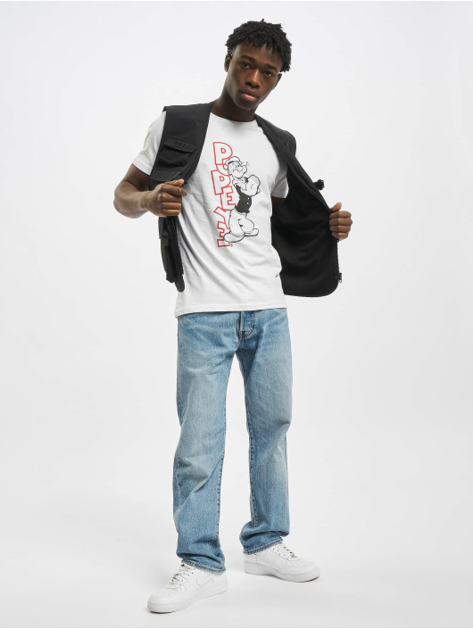 Merchcode T-Shirty Popeye Standing bialy