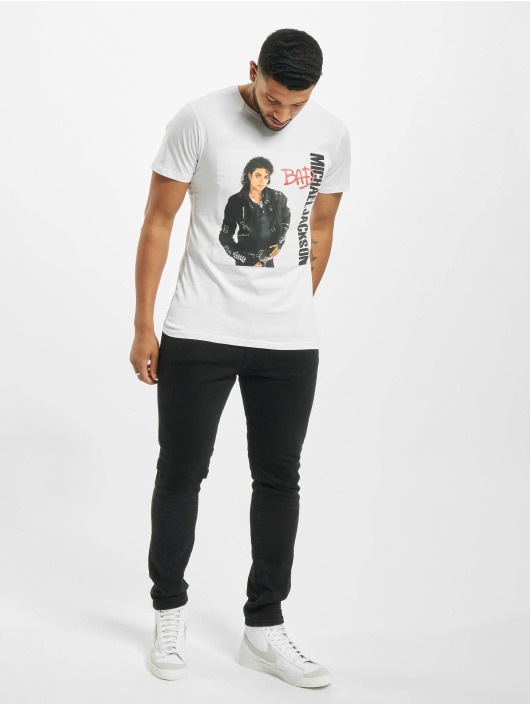 Merchcode T-Shirty Michael Jackson Bad bialy