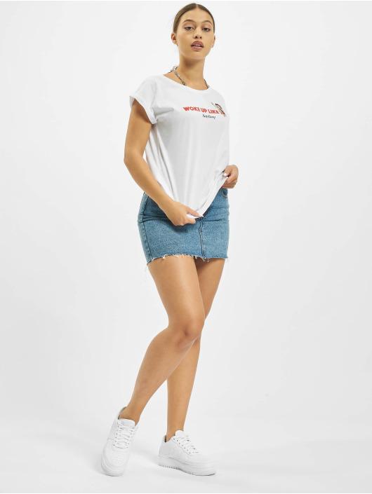 Merchcode T-Shirty Betty Boop Woke Up bialy