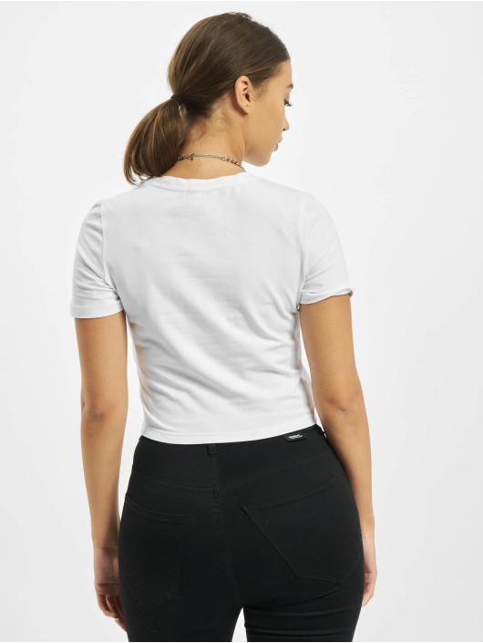 Merchcode T-Shirty Sprite Logo Cropped bialy
