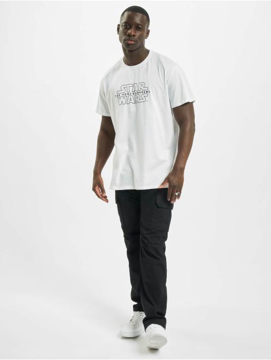 Merchcode T-Shirty Star Wars Crawl bialy