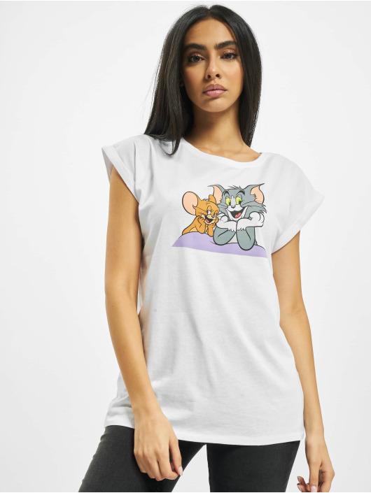 Merchcode T-Shirty Tom & Jerry Pose bialy