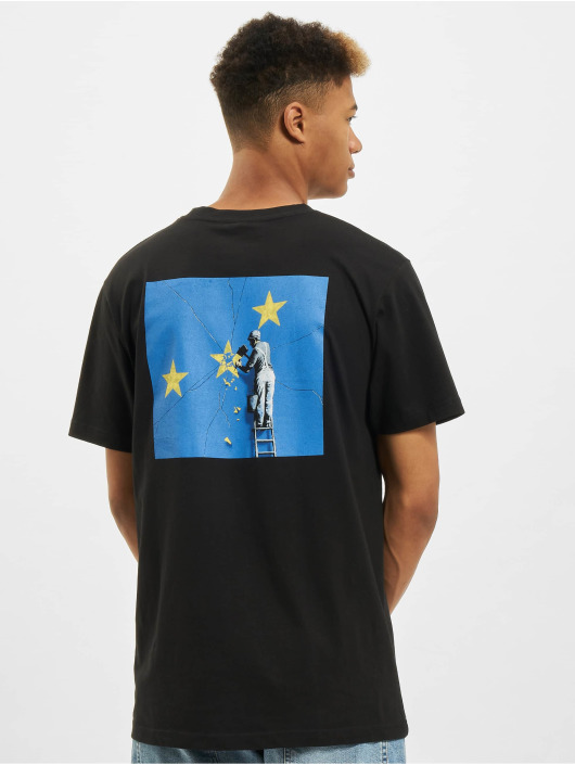 Merchcode T-Shirty Banksy Europe czarny
