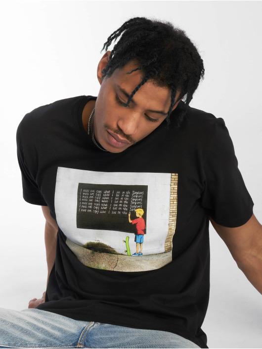Merchcode T-Shirty Banksy Blackboard czarny