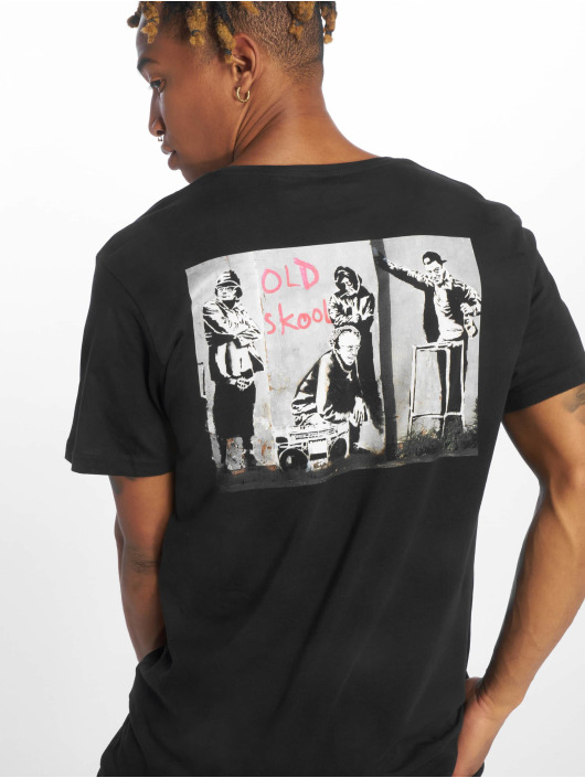 Merchcode T-Shirty Banksy Old Skool czarny