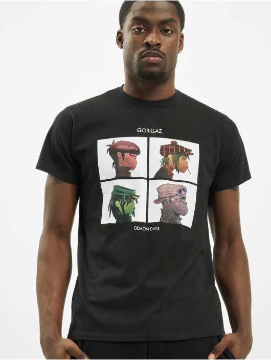 Merchcode T-Shirty Gorillaz Demon Days czarny