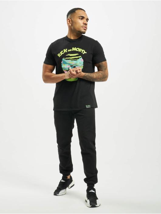 Merchcode T-Shirty Rick And Morty Logo czarny