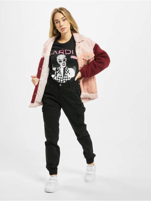 Merchcode T-Shirty Ladies Cardi B Transmission czarny