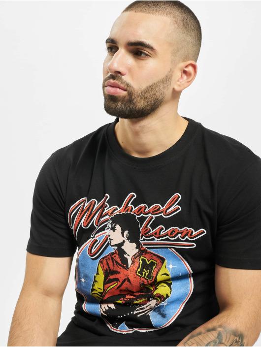 Merchcode T-Shirty Michael Jackson Circle czarny