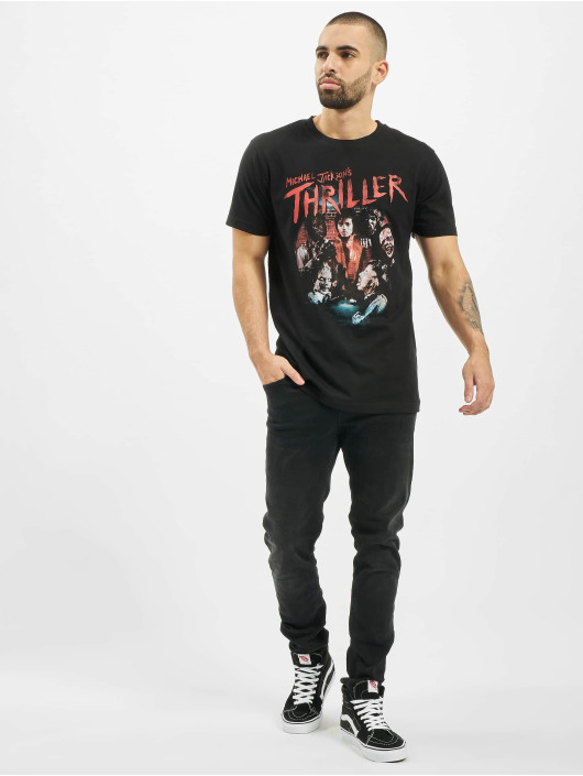 Merchcode T-Shirty Michael Jackson Thriller Zombies czarny