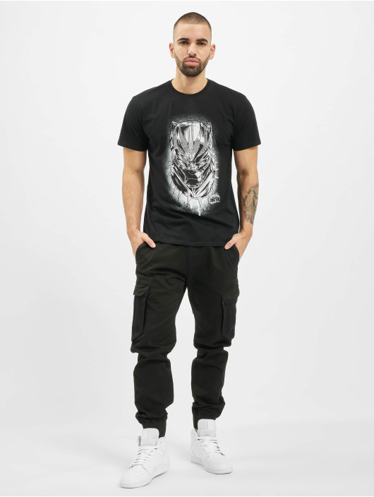 Merchcode T-Shirty Black Panther Spray Headshot czarny
