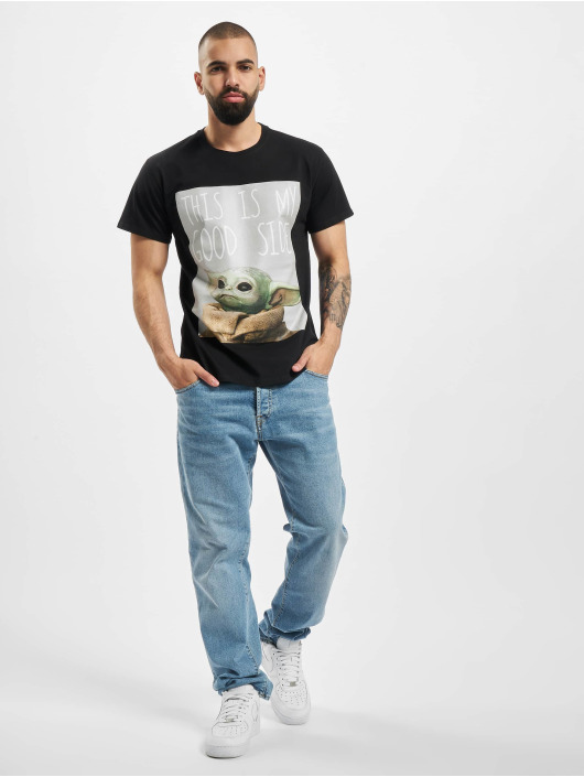 Merchcode T-Shirty Baby Yoda Good Side czarny