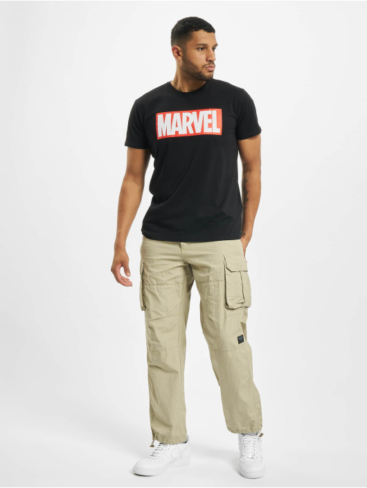 Merchcode T-Shirty Marvel Logo czarny