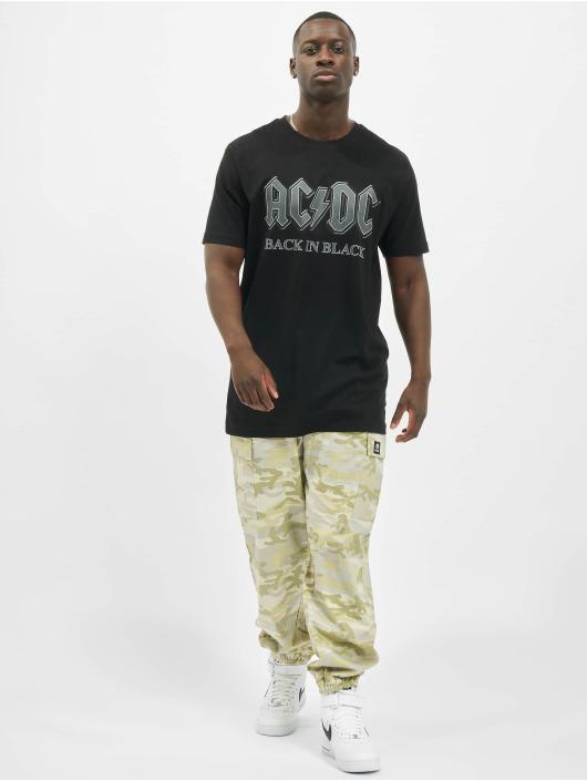 Merchcode T-Shirty Acdc Back In Black czarny