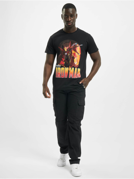 Merchcode T-Shirty Iron Man Comic czarny