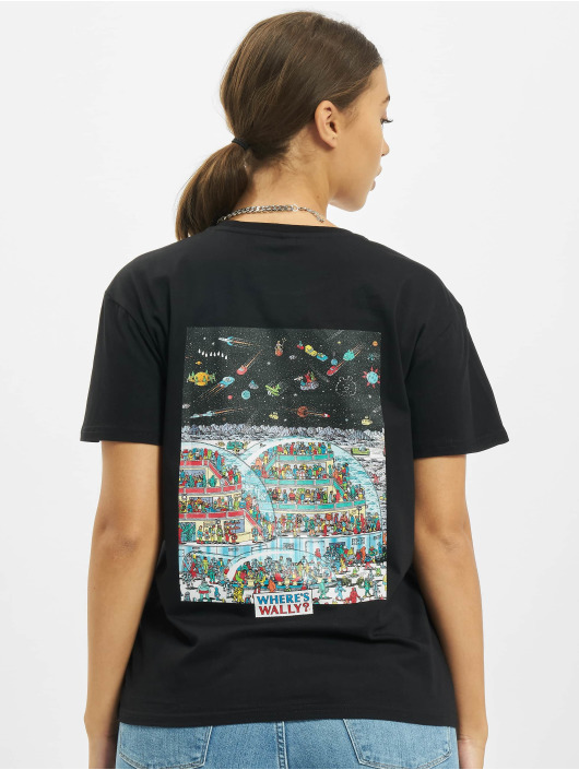 Merchcode T-Shirty Where Is Wally Space czarny