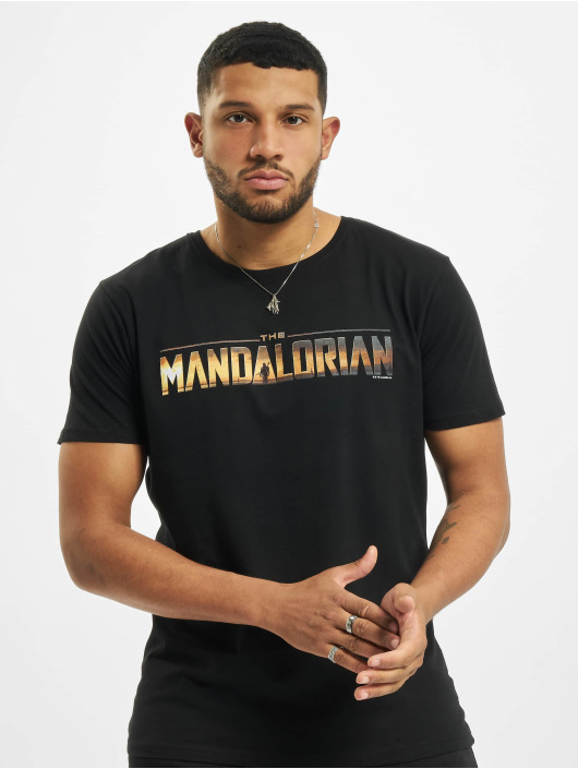 Merchcode T-Shirty Star Wars The Mandalorian Logo czarny