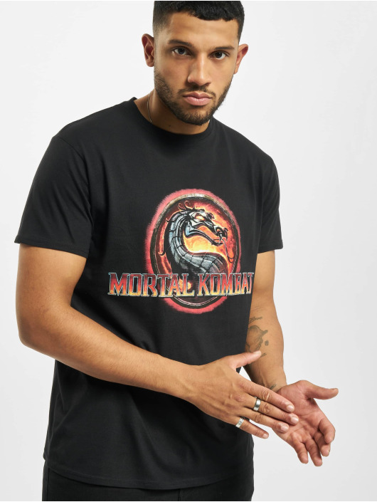 Merchcode T-Shirty Mortal Kombat Logo czarny