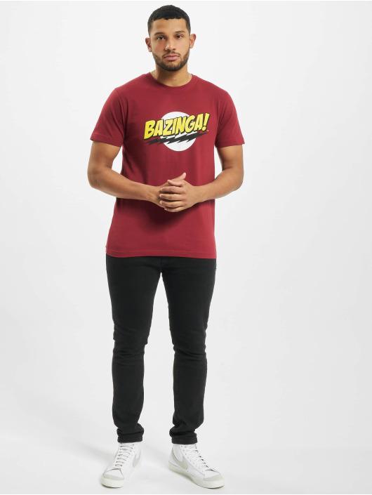 Merchcode T-Shirty Big Bang Theory Bazinga czerwony