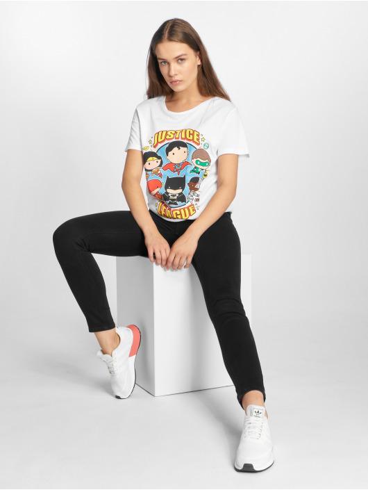 Merchcode T-skjorter Ladies Justice League hvit