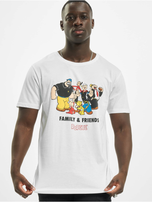 Merchcode T-skjorter Popeye Family & Friends hvit