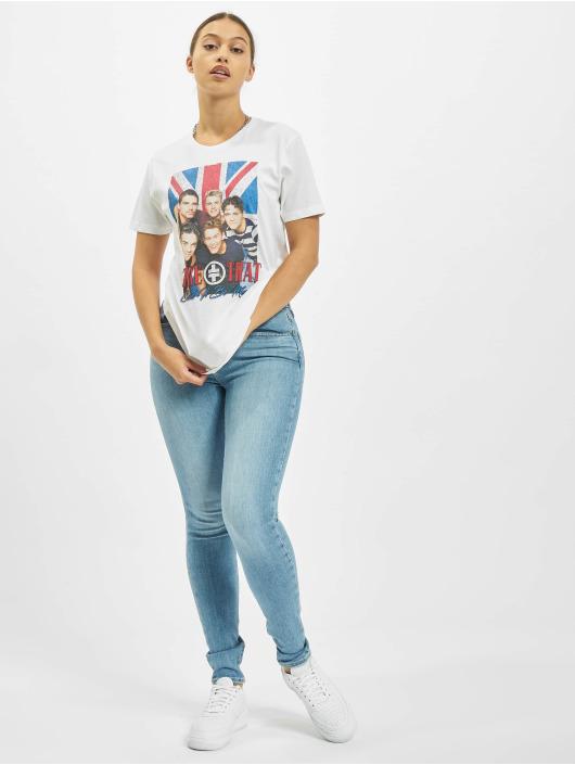 Merchcode T-skjorter Take That Group Photo hvit