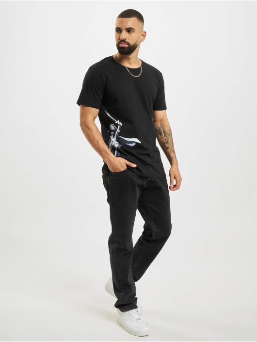 Merchcode T-skjorter Banksy Draw The Raised Bridge svart