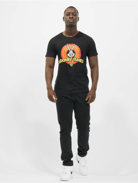 Merchcode T-skjorter Looney Tunes Bugs Bunny Logo svart