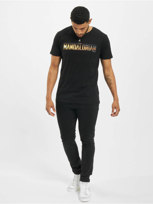 Merchcode T-skjorter Star Wars The Mandalorian Logo svart