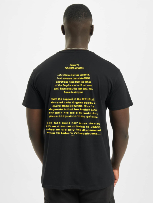 Merchcode T-skjorter Star Wars Crawl svart