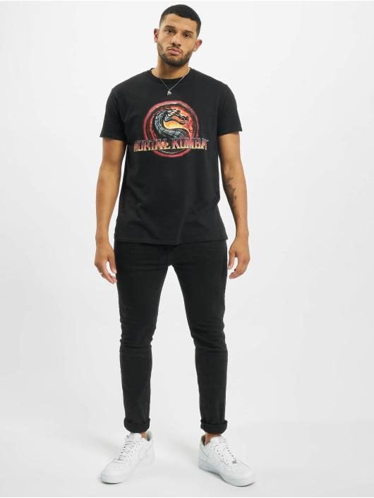 Merchcode T-skjorter Mortal Kombat Logo svart
