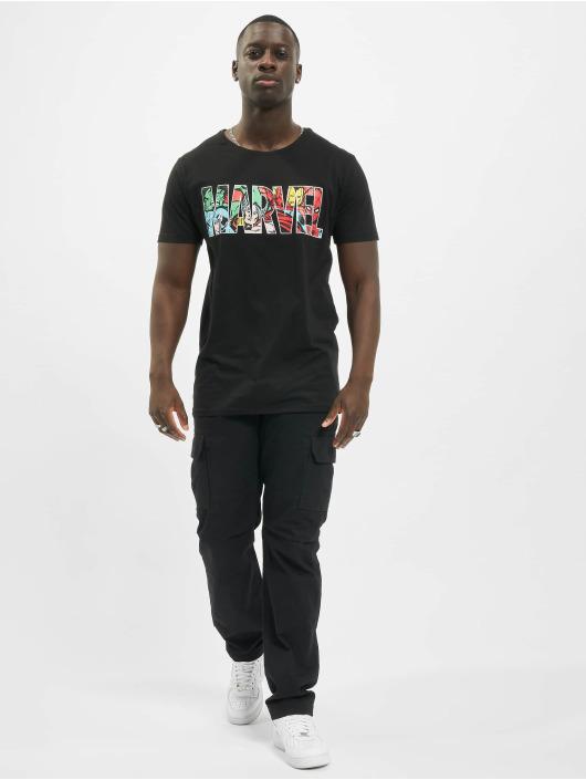 Merchcode T-skjorter Marvel Logo Character svart