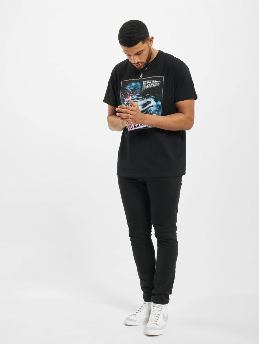 Merchcode T-skjorter Back To The Future Outatime svart