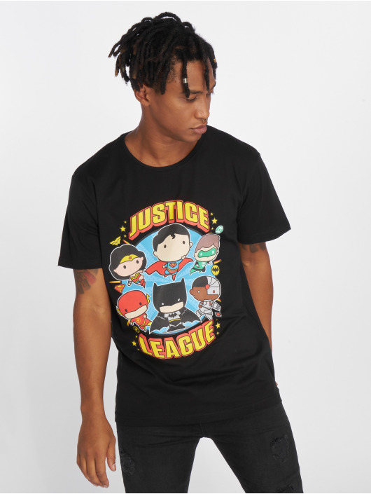 Merchcode Tall Tees Justice League Comic Fit èierna