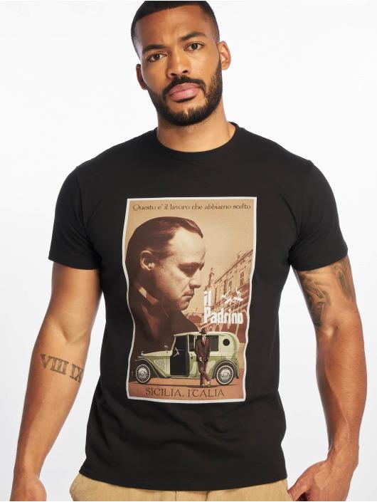 Merchcode Tričká Godfather Poster èierna