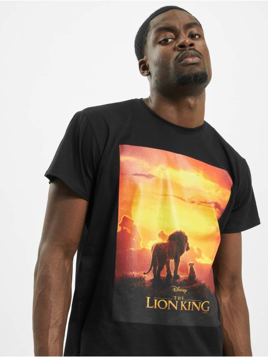 Merchcode Tričká Lion King Sunset èierna