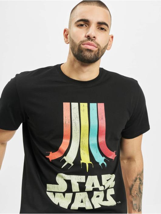 Merchcode Tričká Star Wars Rainbow Logo èierna