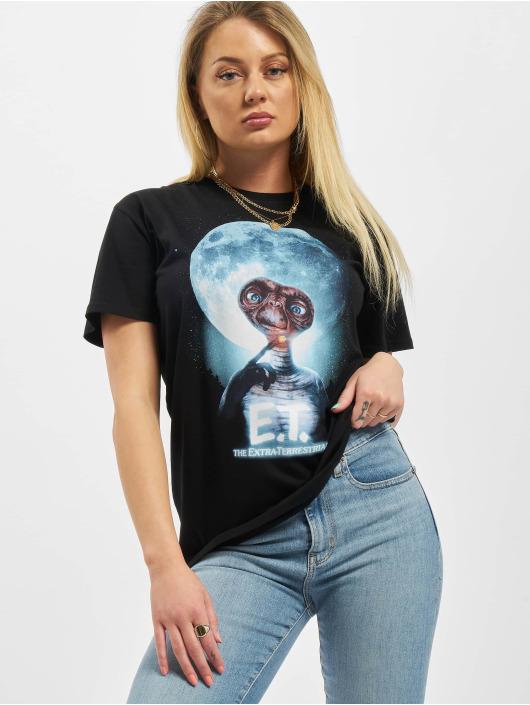 Merchcode Tričká Ladies E.T. Face èierna