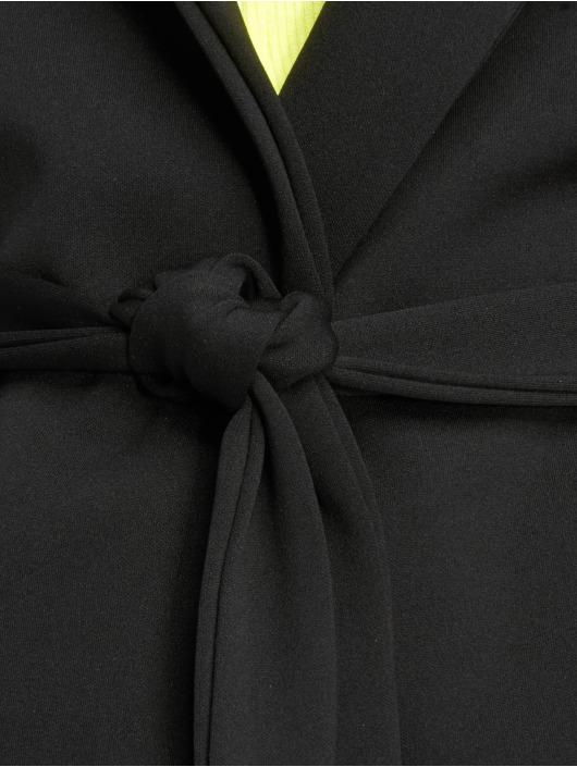 Missguided Šaty Long Sleeve Belted Blazer èierna