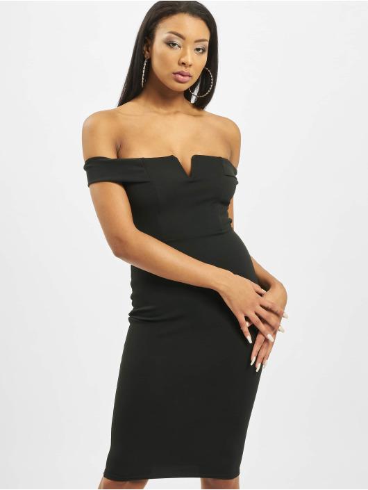 Missguided Šaty V Front Bardot èierna