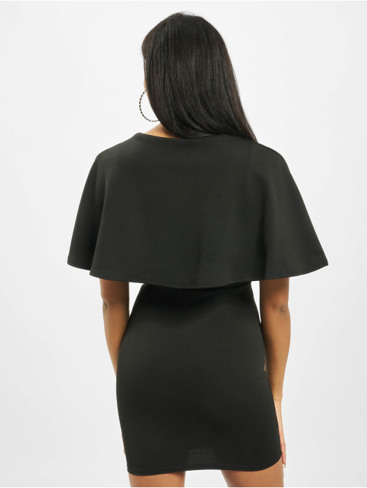 Missguided Šaty Cape V Neck Bodycon Mini èierna