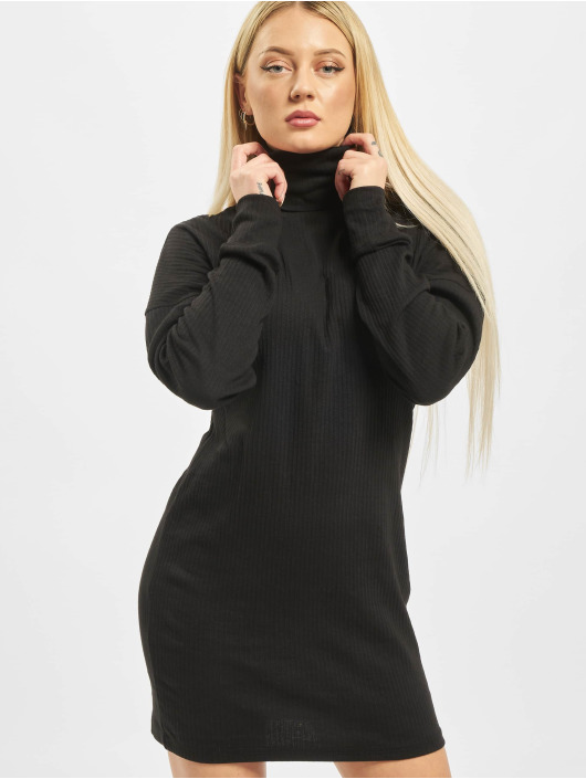 Missguided Šaty Oversized Ribbed Roll Neck èierna
