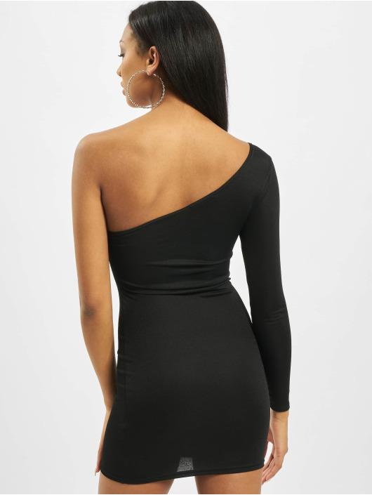 Missguided Šaty One Sleeve Mini čern