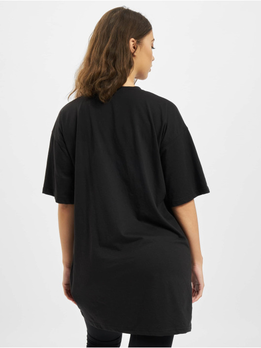Missguided Šaty Oversized Tshirt Short Sleeve Barcode čern