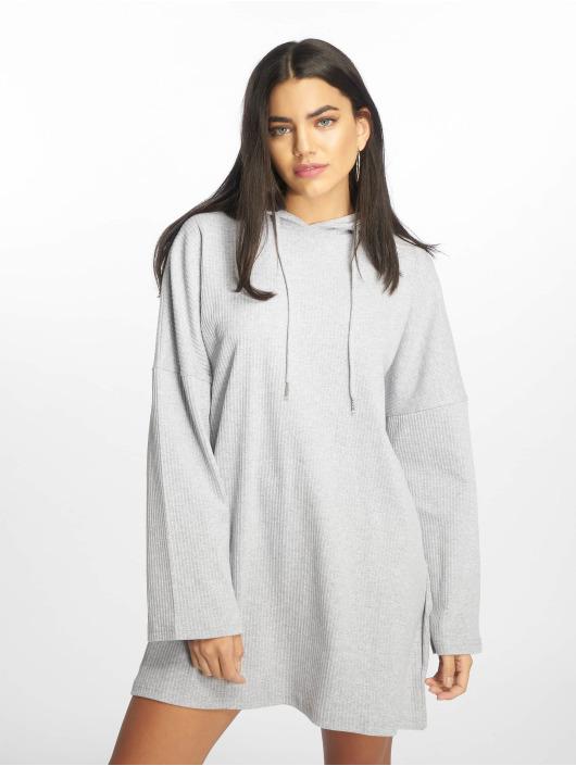 Missguided Šaty Oversized Hooded Sweater šedá